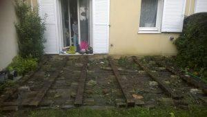 Terrasse sans plancher